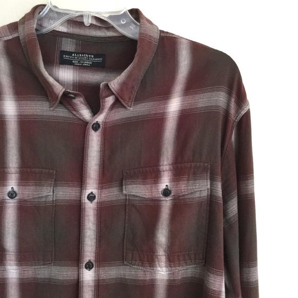 All Saints Other - ALL SAINTS Men's Traxler Long Sleeve Button Shirt
